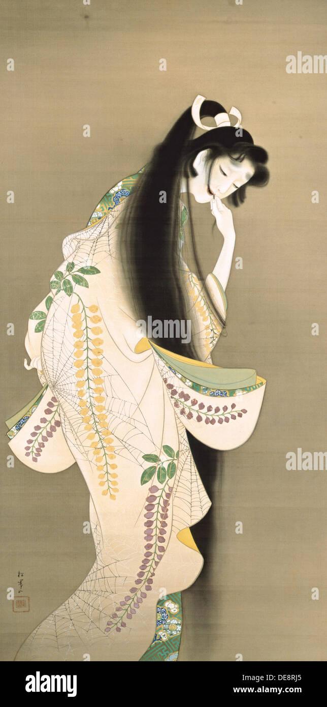 Flamme (Prinzessin Rokujo), 1818. Künstler: Shoen Uemura (1875-1949) Stockbild