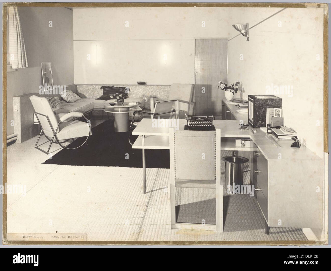 Interieur-Werkkamer | Studie-Interieur Stockbild
