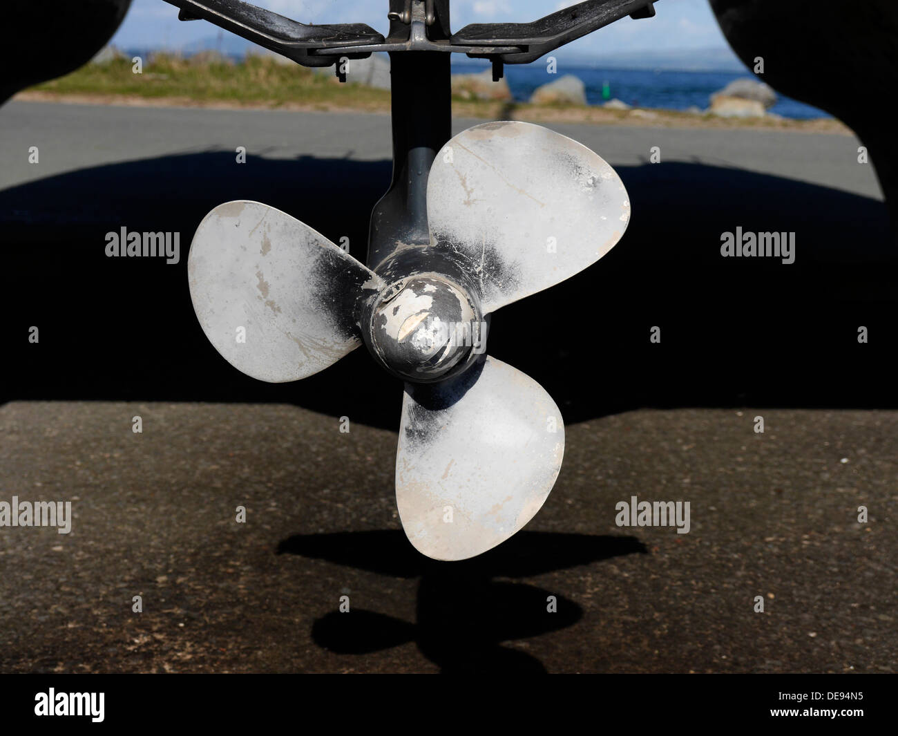 Boot propeller Stockbild