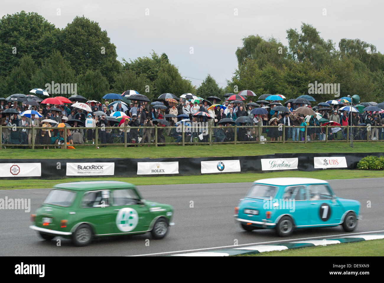 Chichester, West Sussex, UK. 13. September 2013. Beim Goodwood Revival. Goodwood-Rennstrecke, West Sussex - Freitag, Stockbild