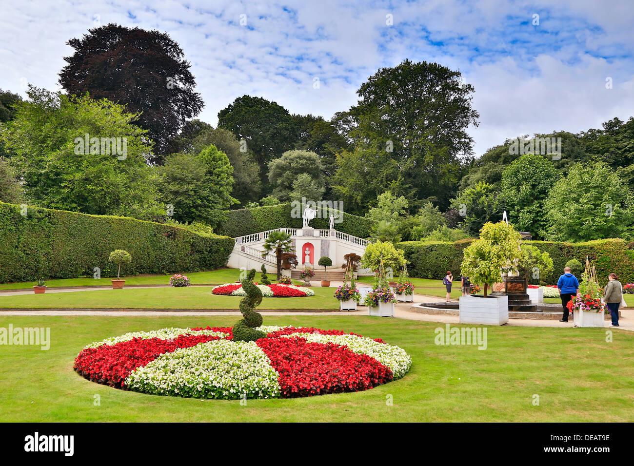 Gärten In Cornwall mount edgcumbe gärten cornwall sommer uk stockfoto bild