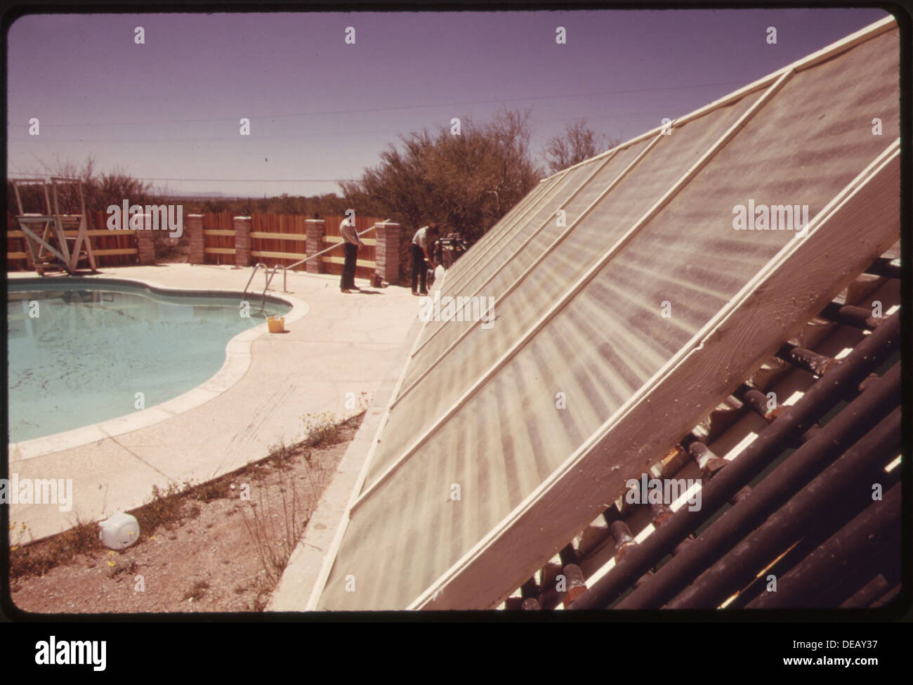 Solarheizung Platten Verwendet Um Einen Pool Zu Hause