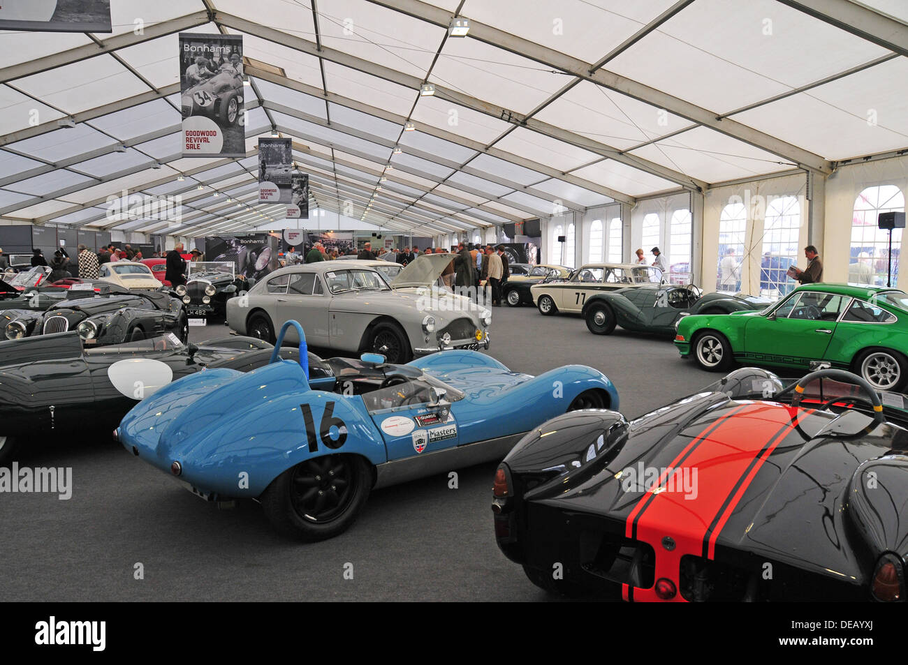 Beim Goodwood Revival 2013 Stockbild