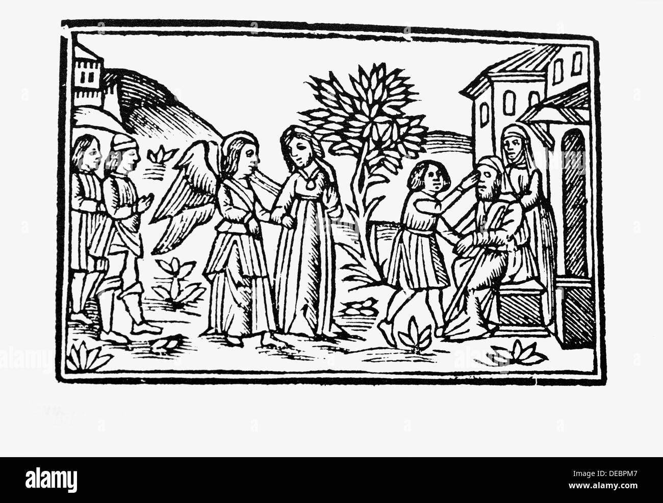 Italienische Bibel, Venedig, 1525. Stockbild
