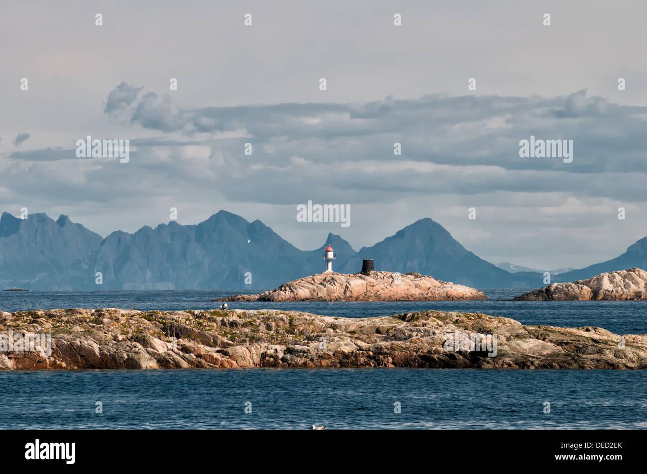 Archipel in Henningsvær, Lofoten Stockbild