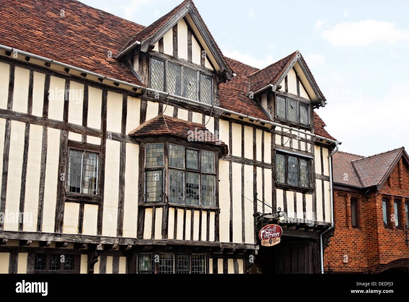 Die Falstaff-Erfahrung in Stratford-upon-Avon, eine preisgekrönte Besucherattraktion, die im 16. Jahrhundert zum Leben erweckt. Stockbild
