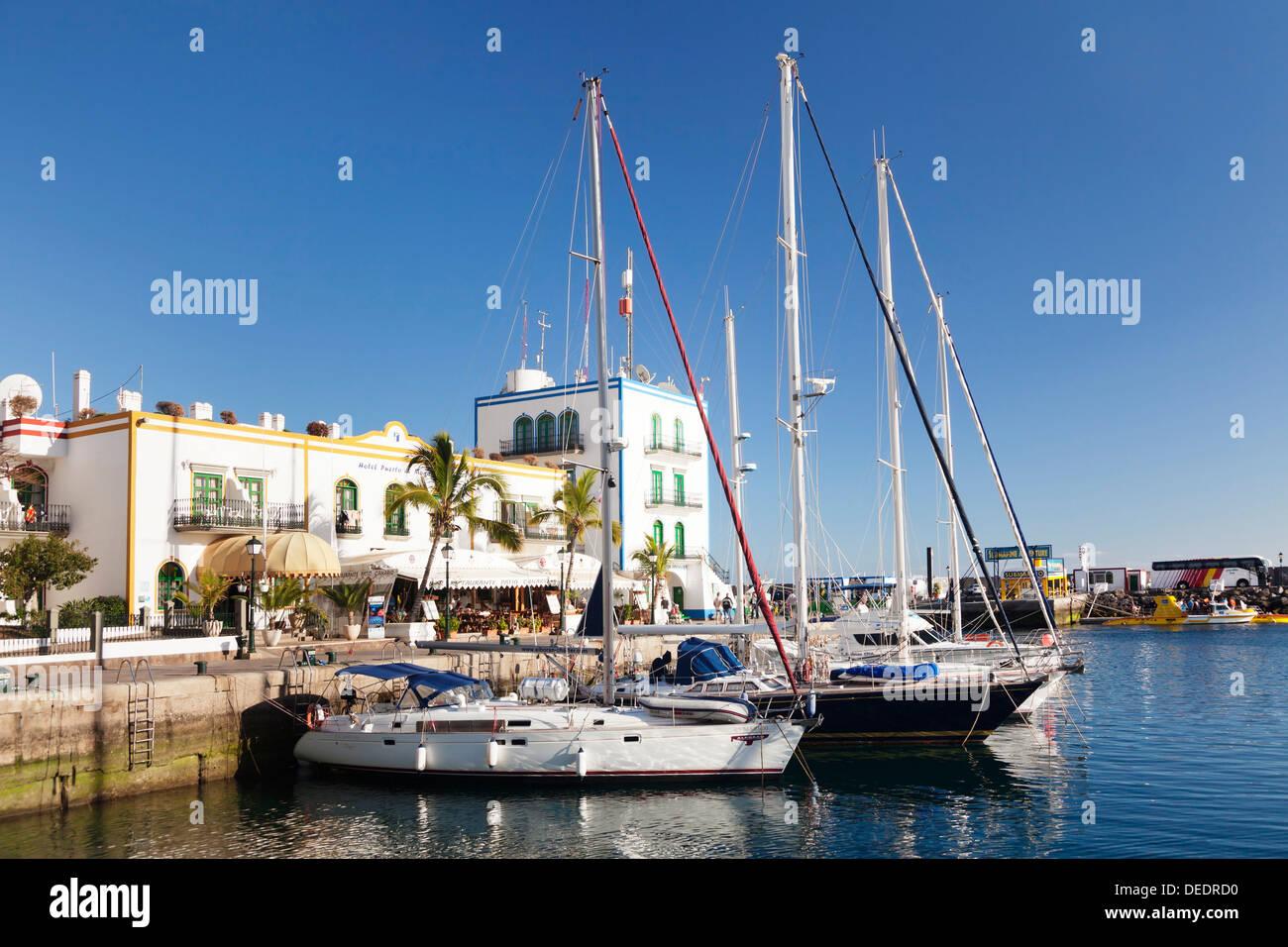 Marina, Puerto de Mogan, Gran Canaria, Kanarische Inseln, Spanien, Atlantik, Europa Stockbild