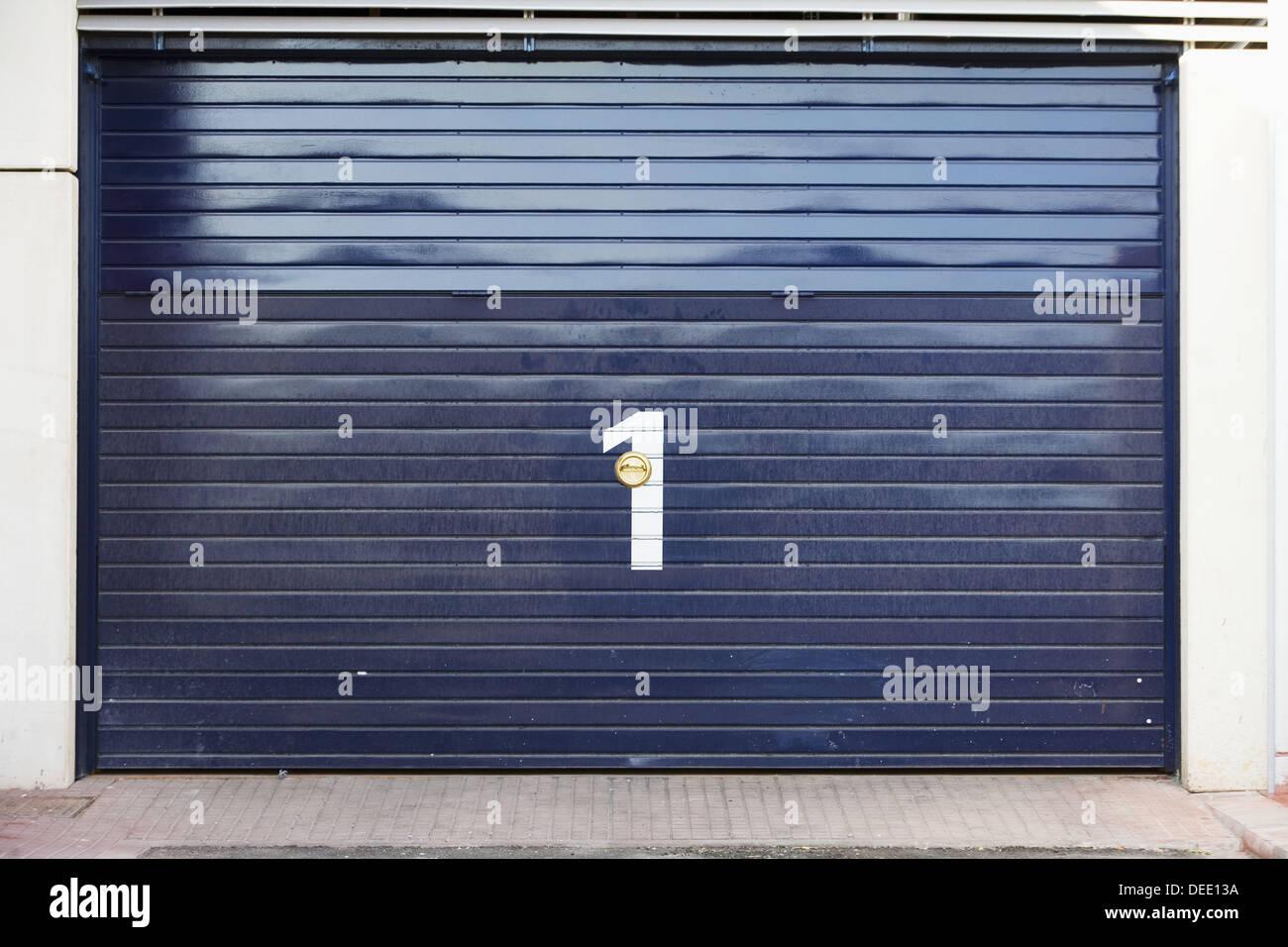 Tür Nr. 1 Stockbild