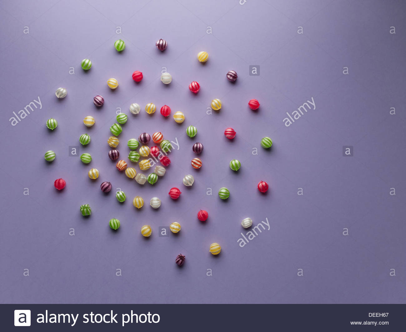 Spirale der pulsierenden Bonbons Stockbild