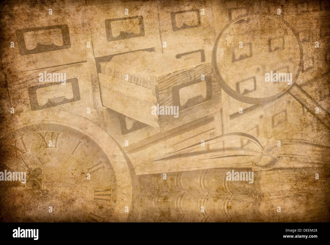 Archiv oder Museum Grunge Hintergrund Stockfoto