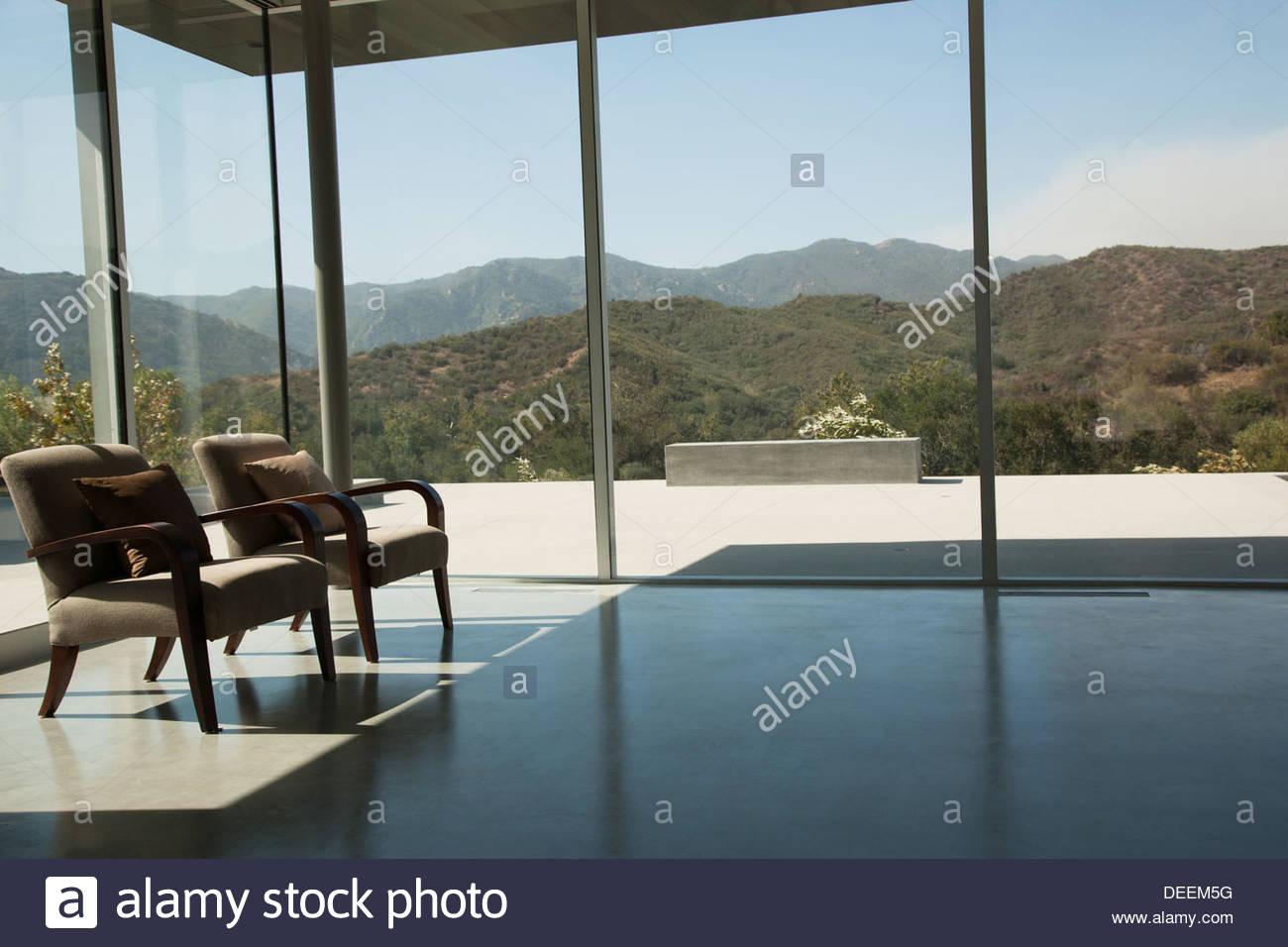 Innere des modernen Wohnzimmer Stockbild