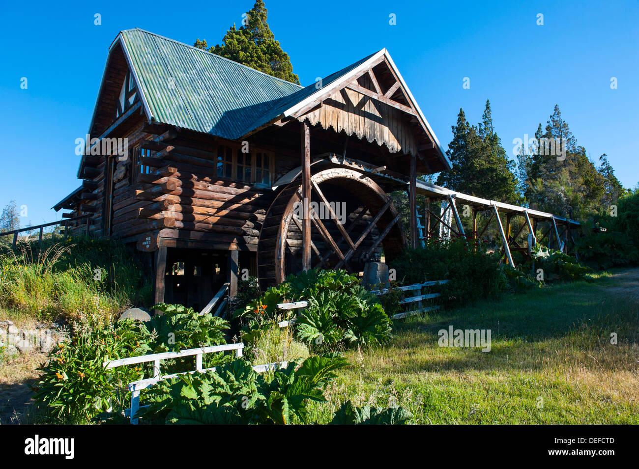 Alte Mühle El Viejo Molino, Chubut, Patagonien, Argentinien, Südamerika Stockbild