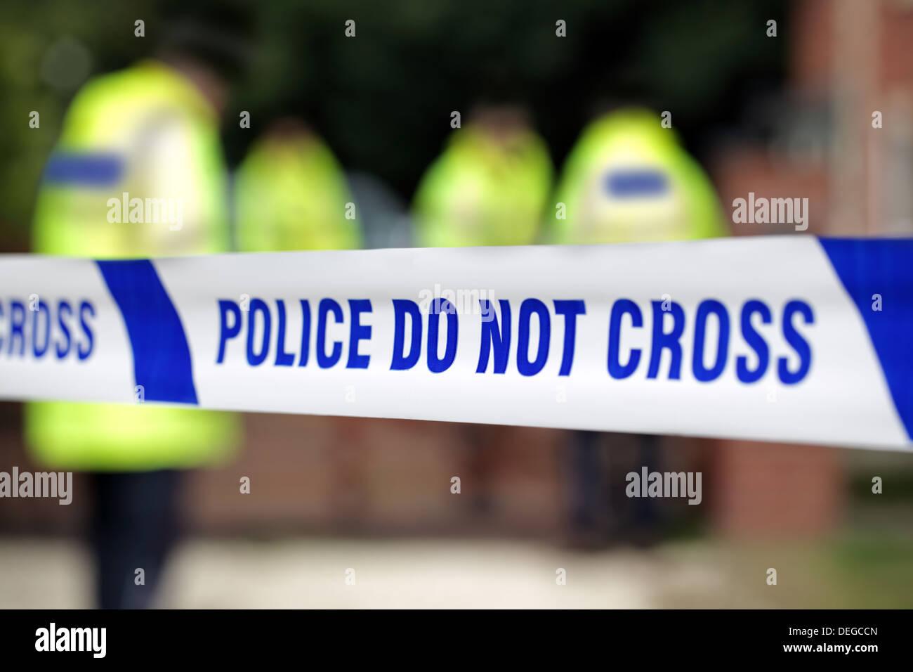 Polizei-Tatort Stockbild