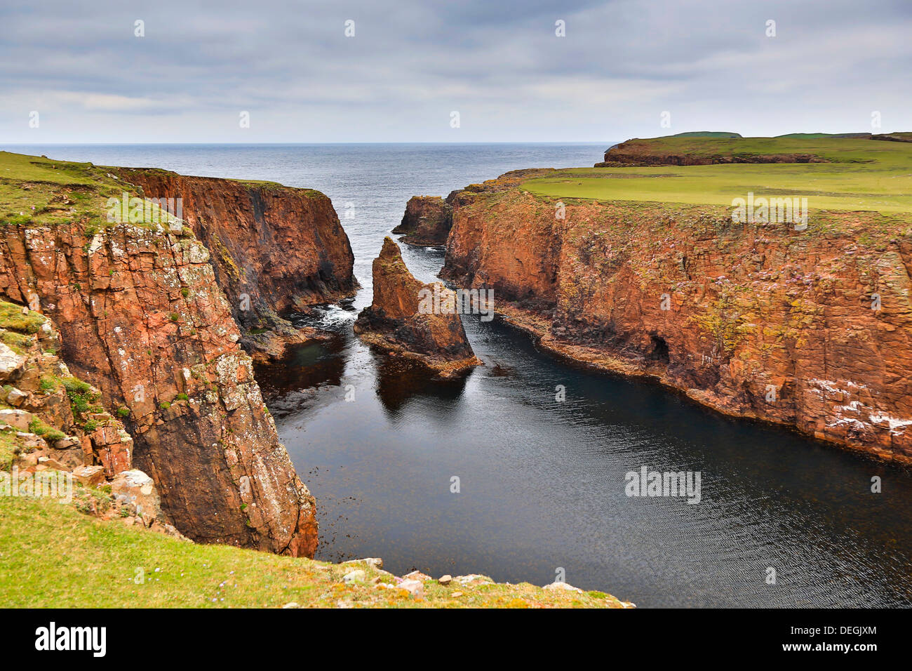 Papa Stour; Shetland; UK Stockbild