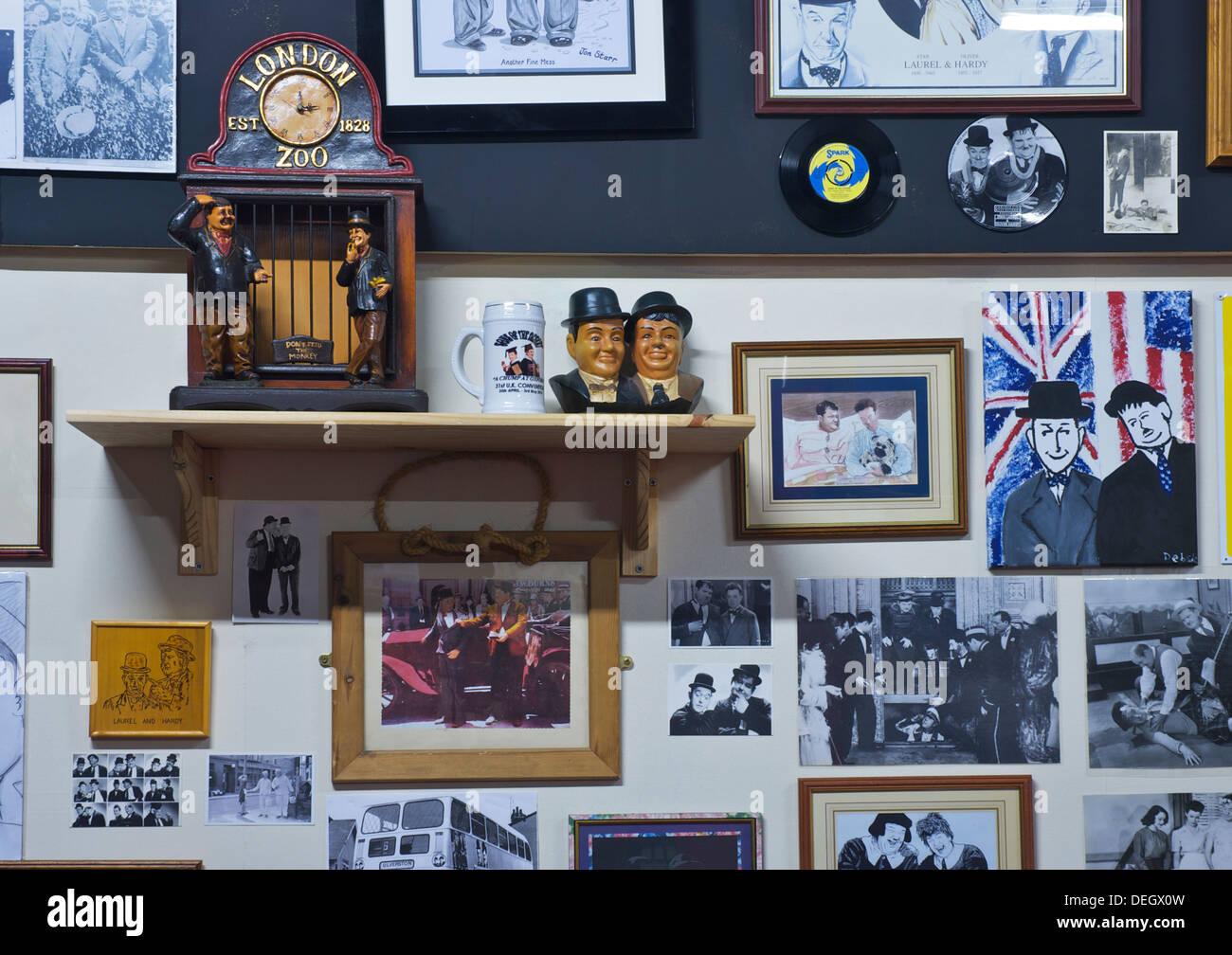 Innere des Laurel & Hardy Museum, Ulverston, Cumbria, England UK Stockbild