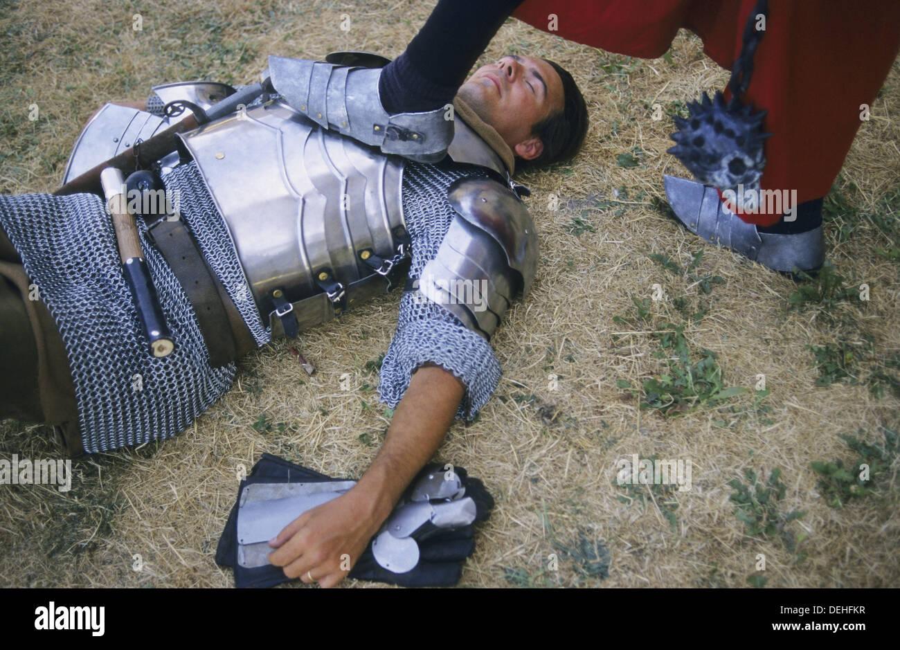 Ritter Mittelalter Festival In Avila Spanien Stockfoto Bild