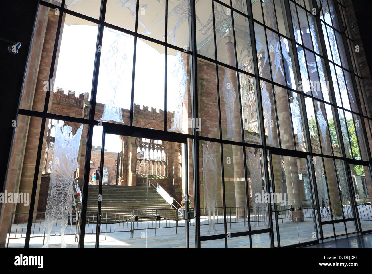 England Coventry Cathedral West Screen Stockfotos & England Coventry ...
