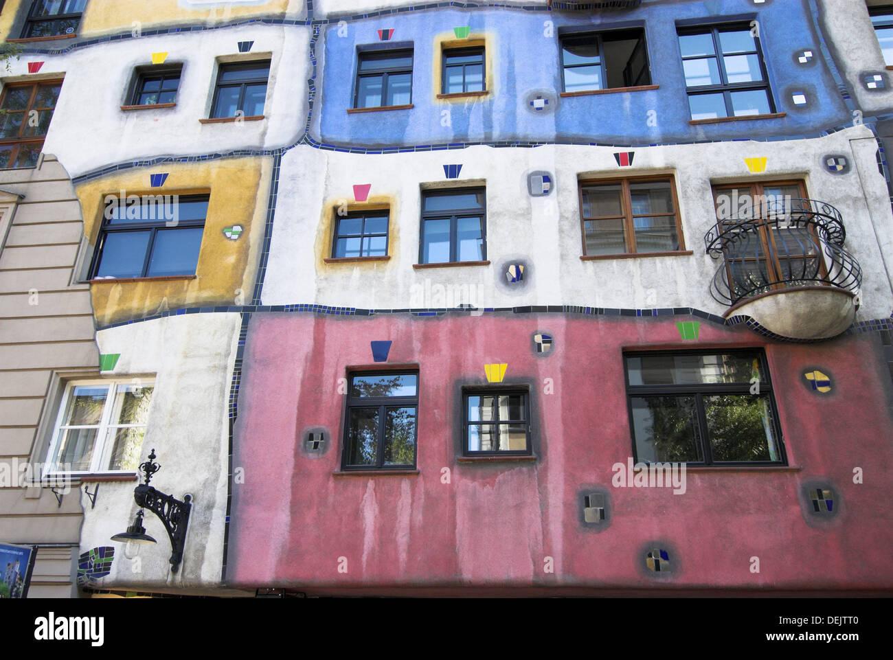 Hundertwasser Haus Künstlerische Architektur Verschiedene