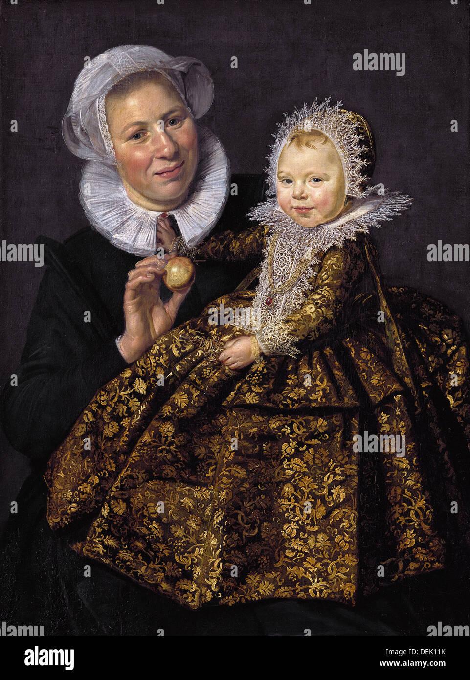 Frans Hals / sterben Amme Mit Dem Art - 1620 - Gemäldegalerie - Berlin Stockbild