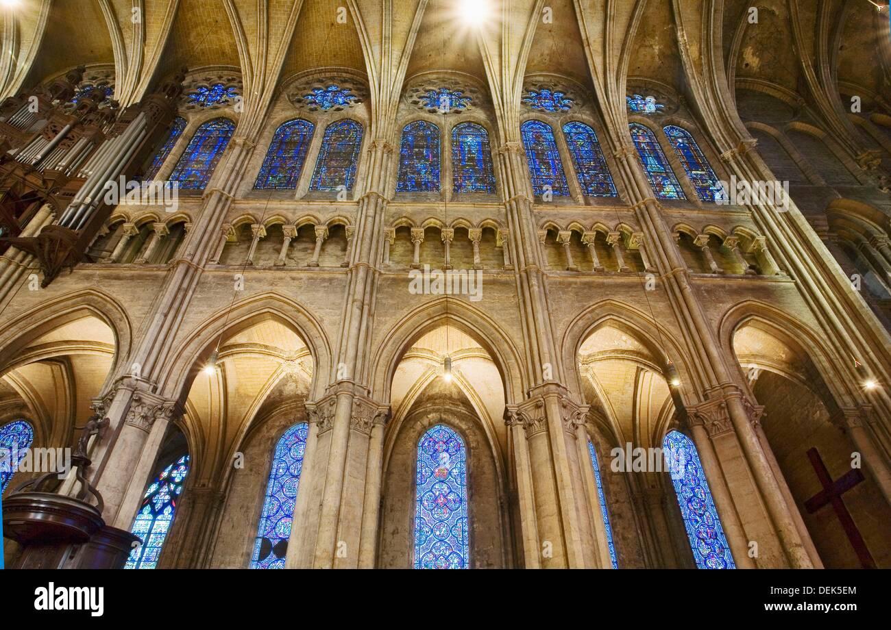 Frankreich, Chartres, Cathédrâle, intérieur Stockbild