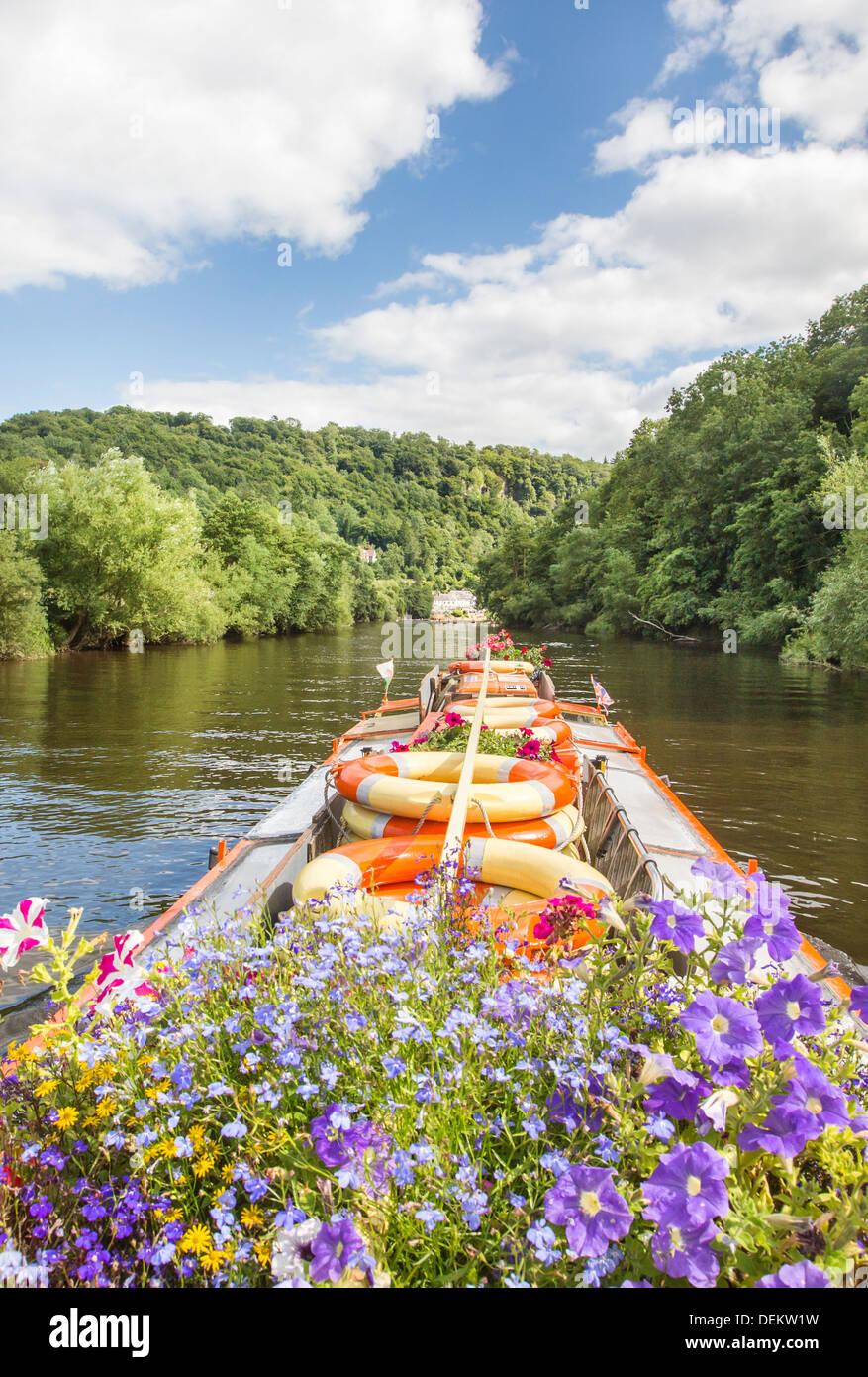 Gloucestershire Tourismus und Reisen Wald von Dean und Wye Valley River und Herefordshire Monmouthshire Grenzen Stockbild