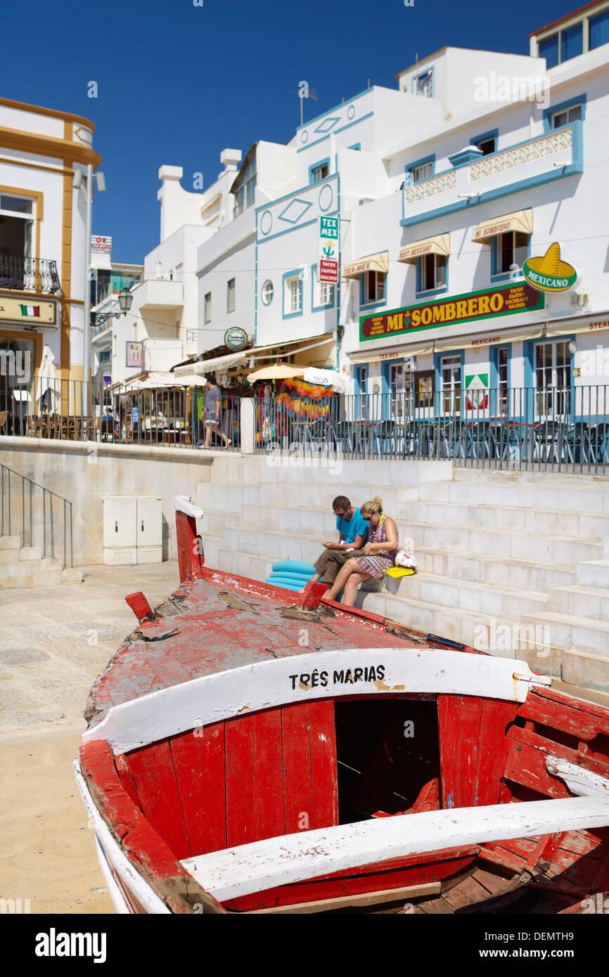 Albufeira alte Stadt, Algarve, Portugal Stockbild
