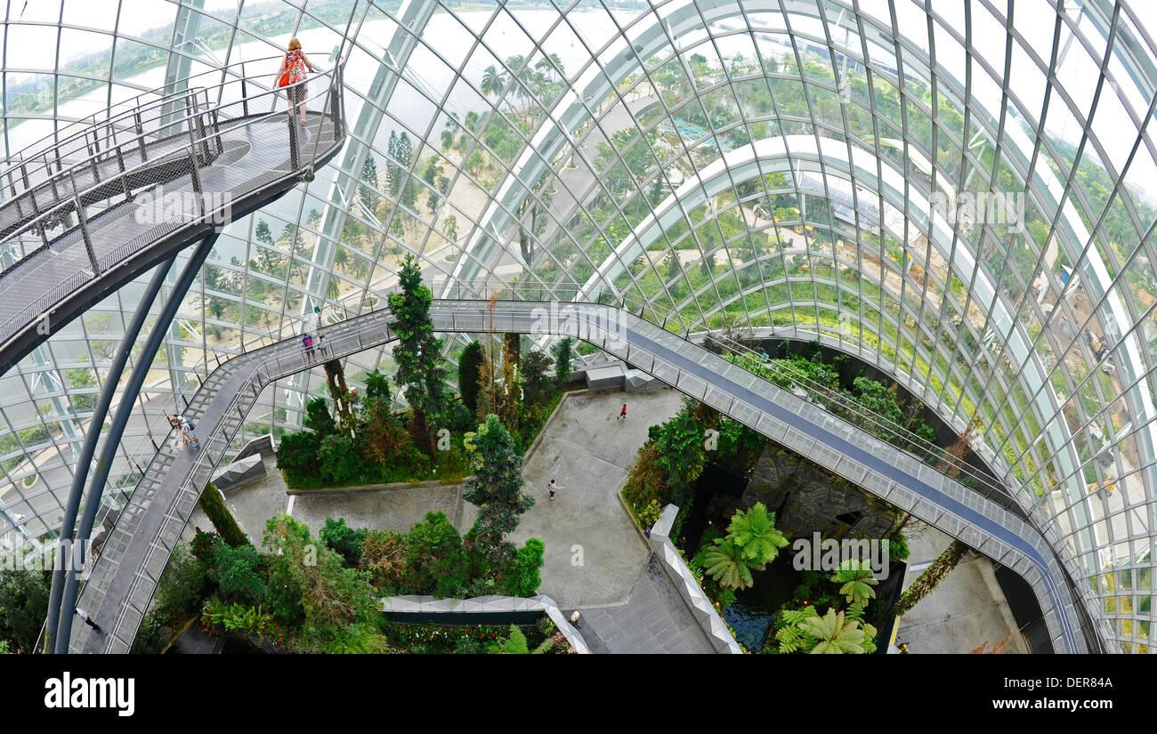Der Nebelwald, eine große indoor-Gewächshaus, das Gelände der Gärten ...