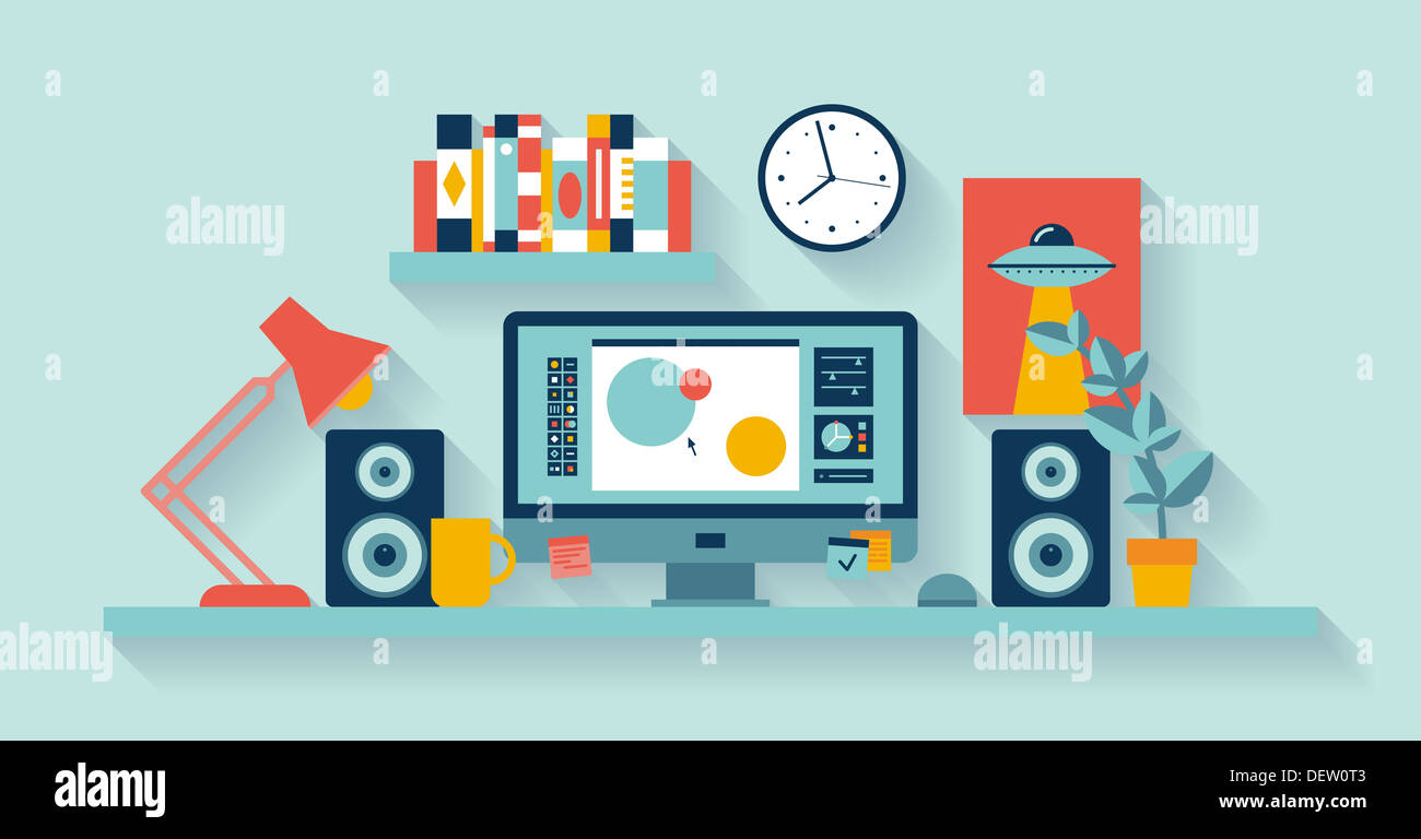 Graphic design stockfotos graphic design bilder alamy for Designer buroeinrichtung