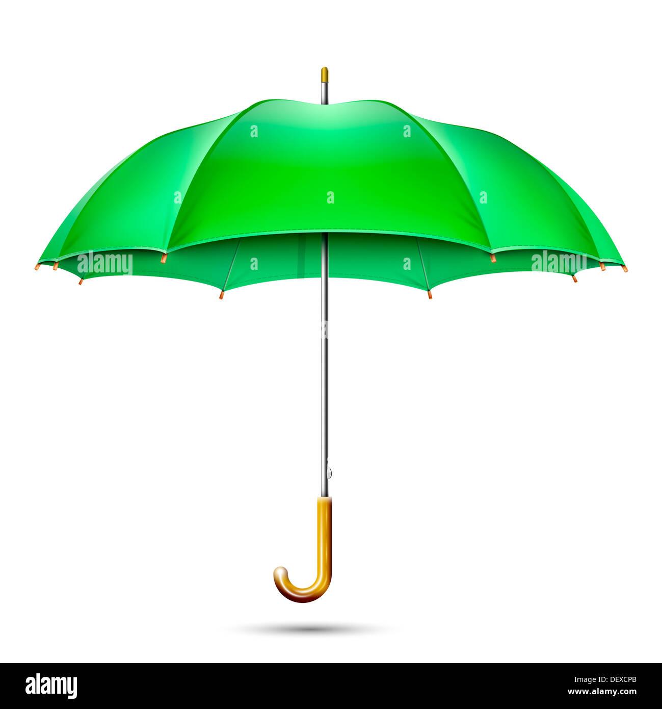 Realistische detaillierte Green Umbrella Stockbild