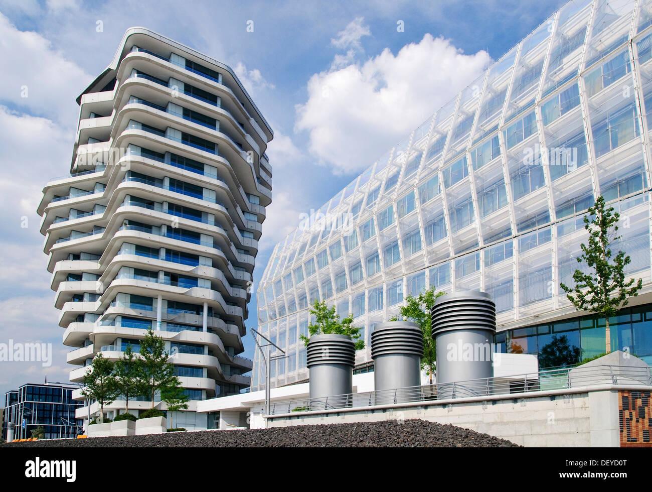 Moderne Wohn- und Bürogebäude, Marco Polo Tower und ...