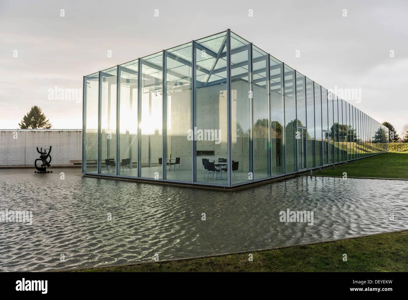 museum langen foundation architect tadao stockfotos. Black Bedroom Furniture Sets. Home Design Ideas