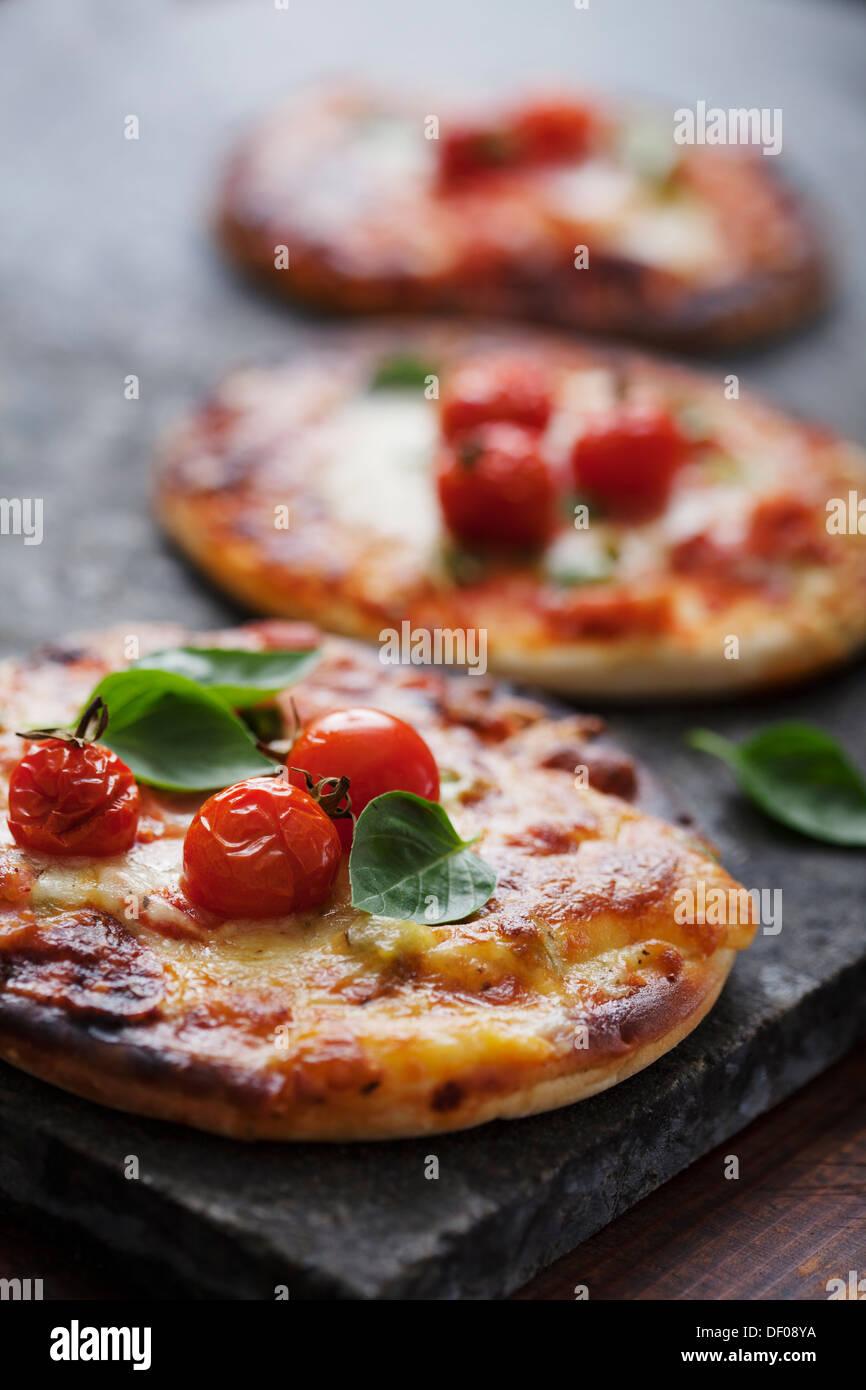 Mini-Pizzen Stockbild