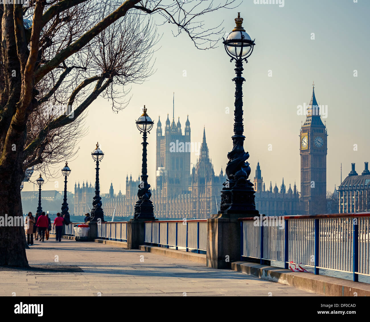 Big Ben und Häuser des Parlaments, London Stockbild