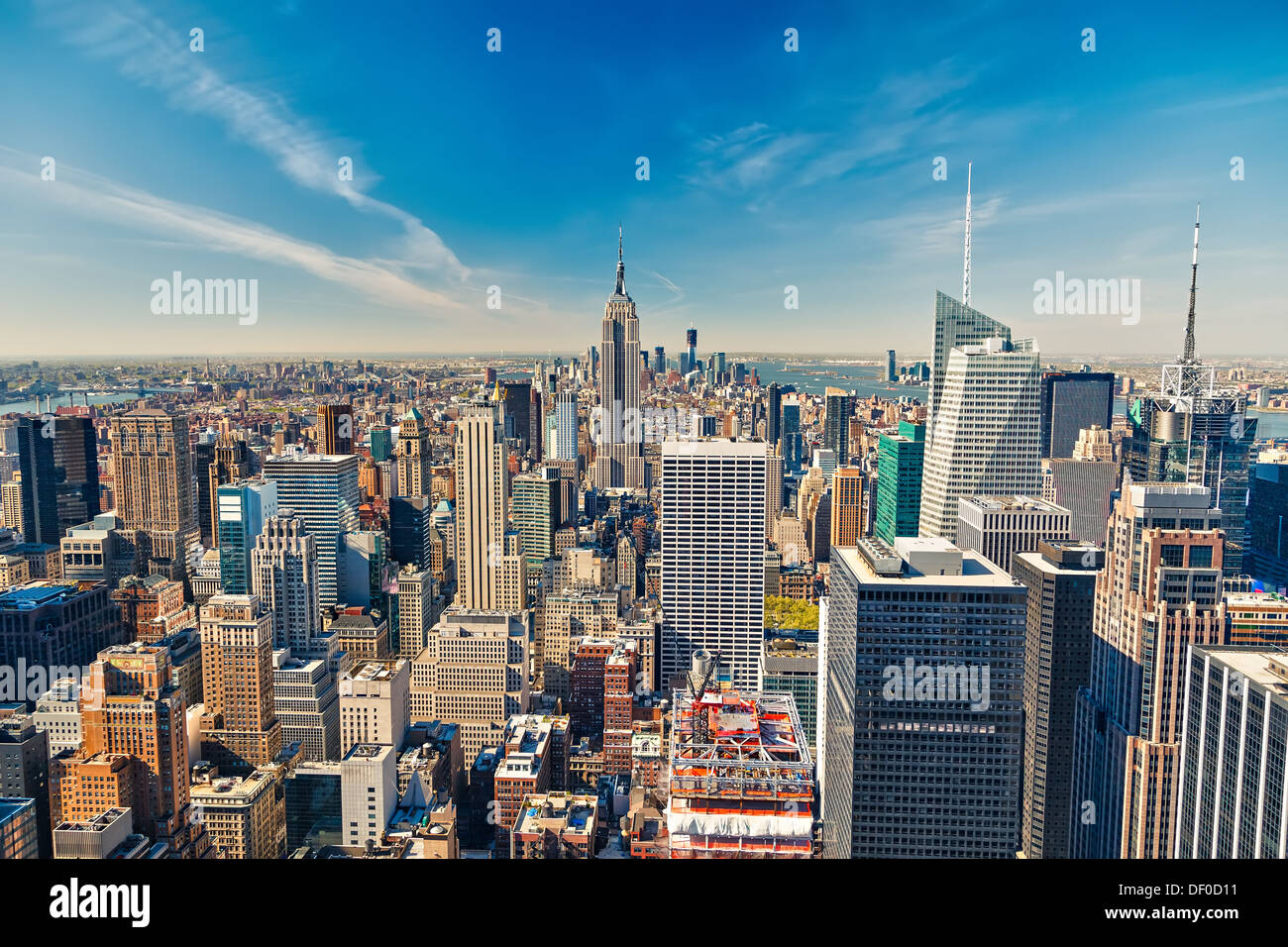 Manhattan Luftbild Stockbild
