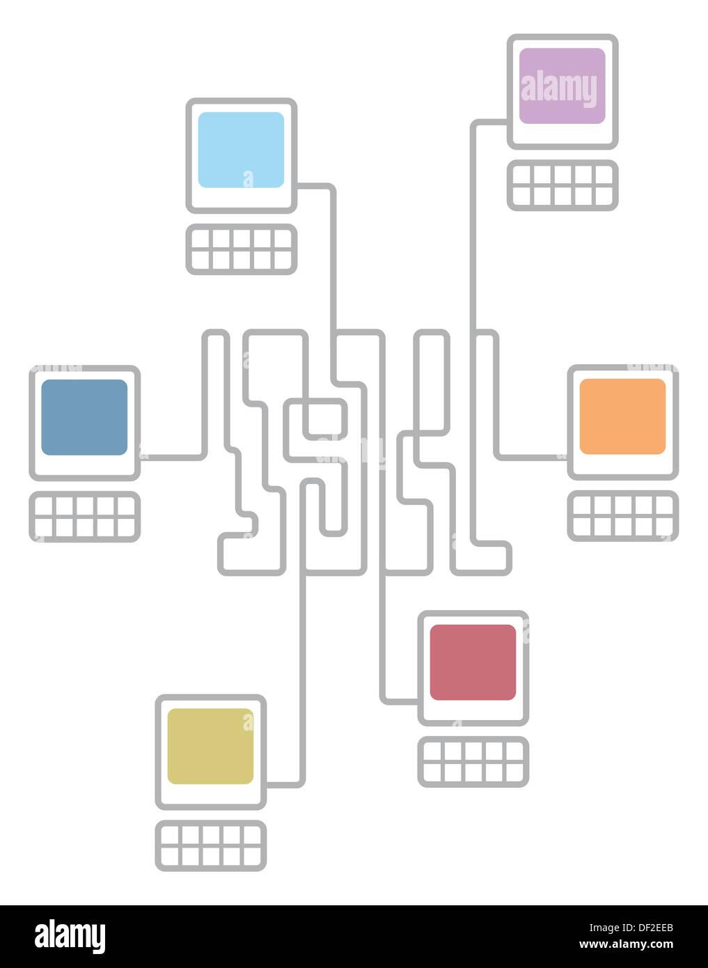 Nett Drahtloses Netzwerkdiagramm Zeitgenössisch - Die Besten ...