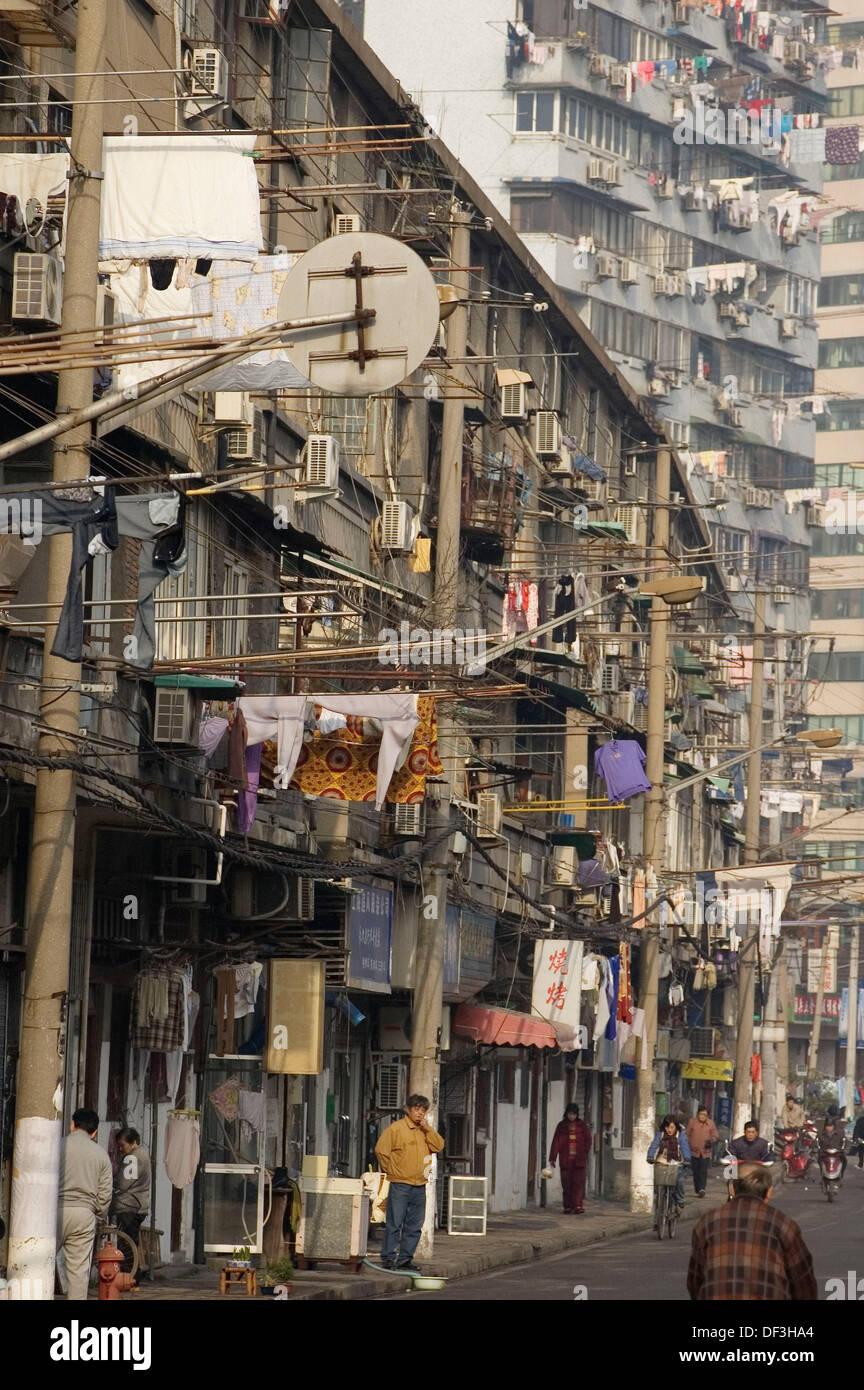 W sche trocknen im alten viertel shanghai china - Wasche im schlafzimmer trocknen ...