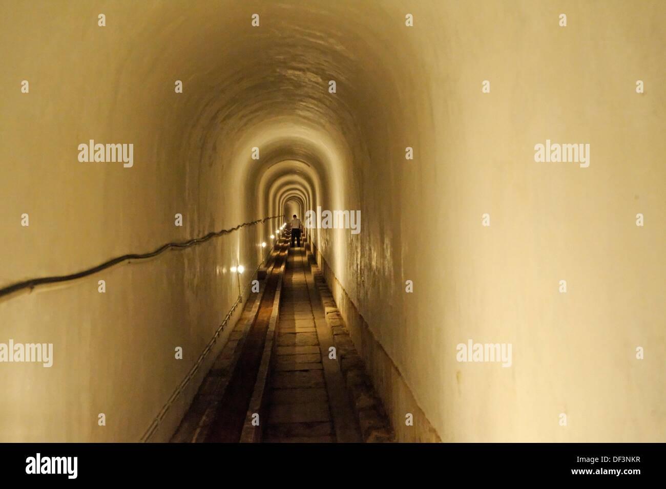 Die Loreto-Galerie mit einer Gesamtfläche von 2835 m vorgesehen Wasser von Aguas Livres Aquädukt an mehreren großen Brunnen. Stadt der Stockbild