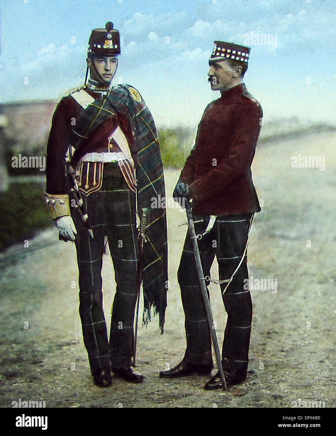Highland Light Infanterie viktorianischen Zeit Stockbild