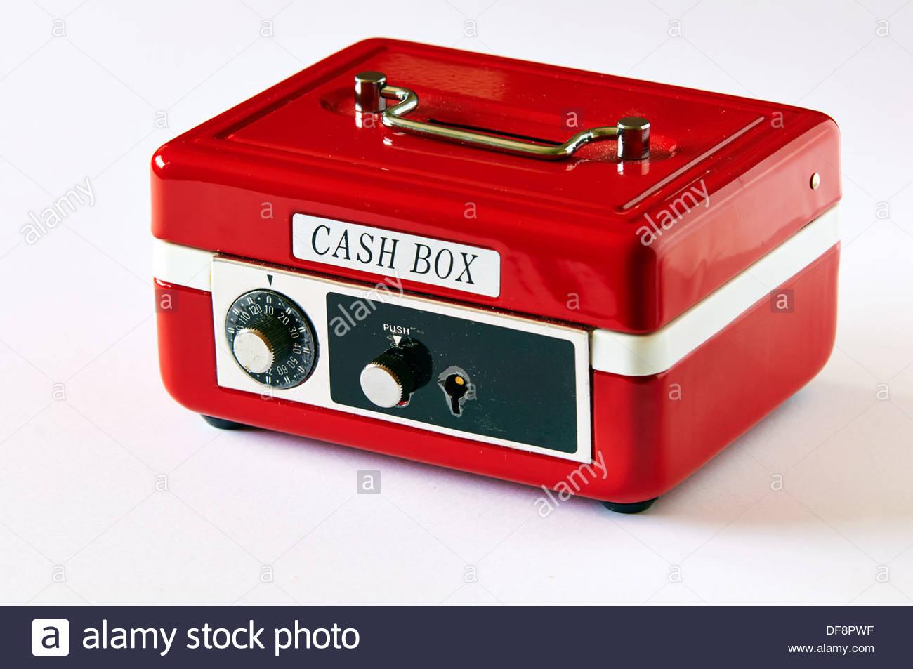 ein zinn metall rote geldkassette mit chrom griff und druckknopf keylock mit zahlenschloss. Black Bedroom Furniture Sets. Home Design Ideas