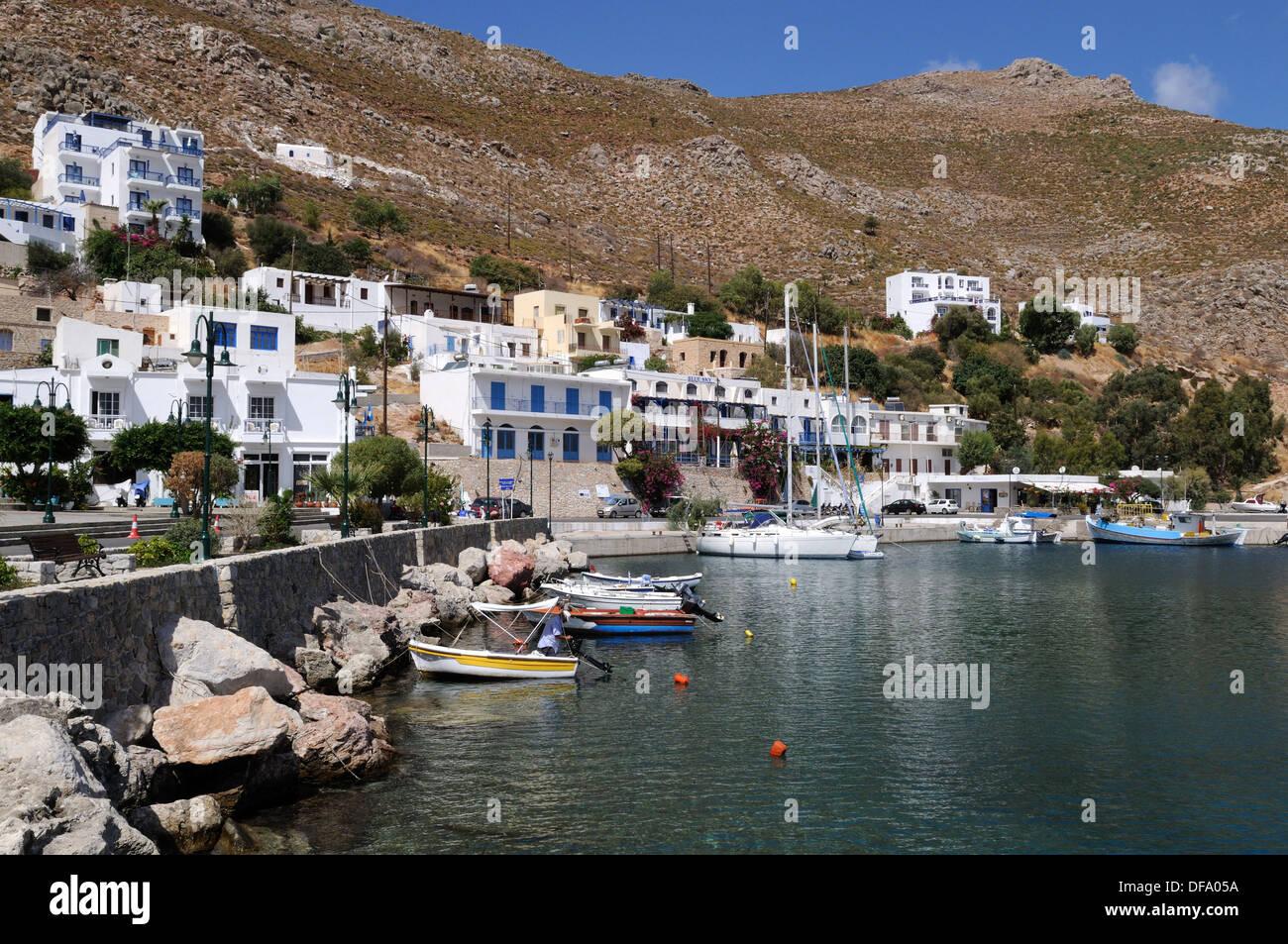 Tilos Livadia Hafen der Dodekanes-Griechenland Stockbild