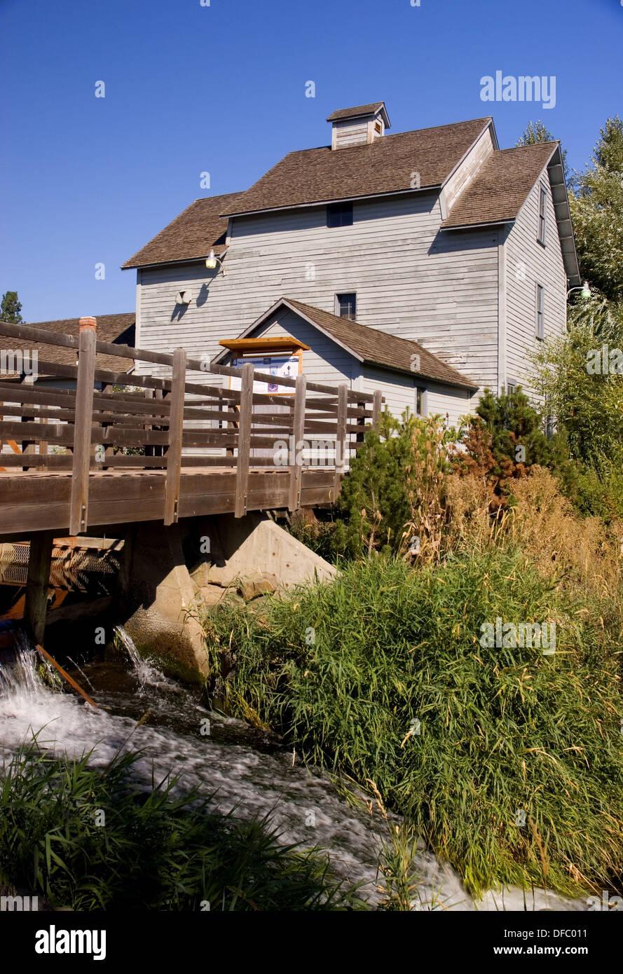 Thorpe Grist Mill, Thorpe, Washington, USA Stockfoto