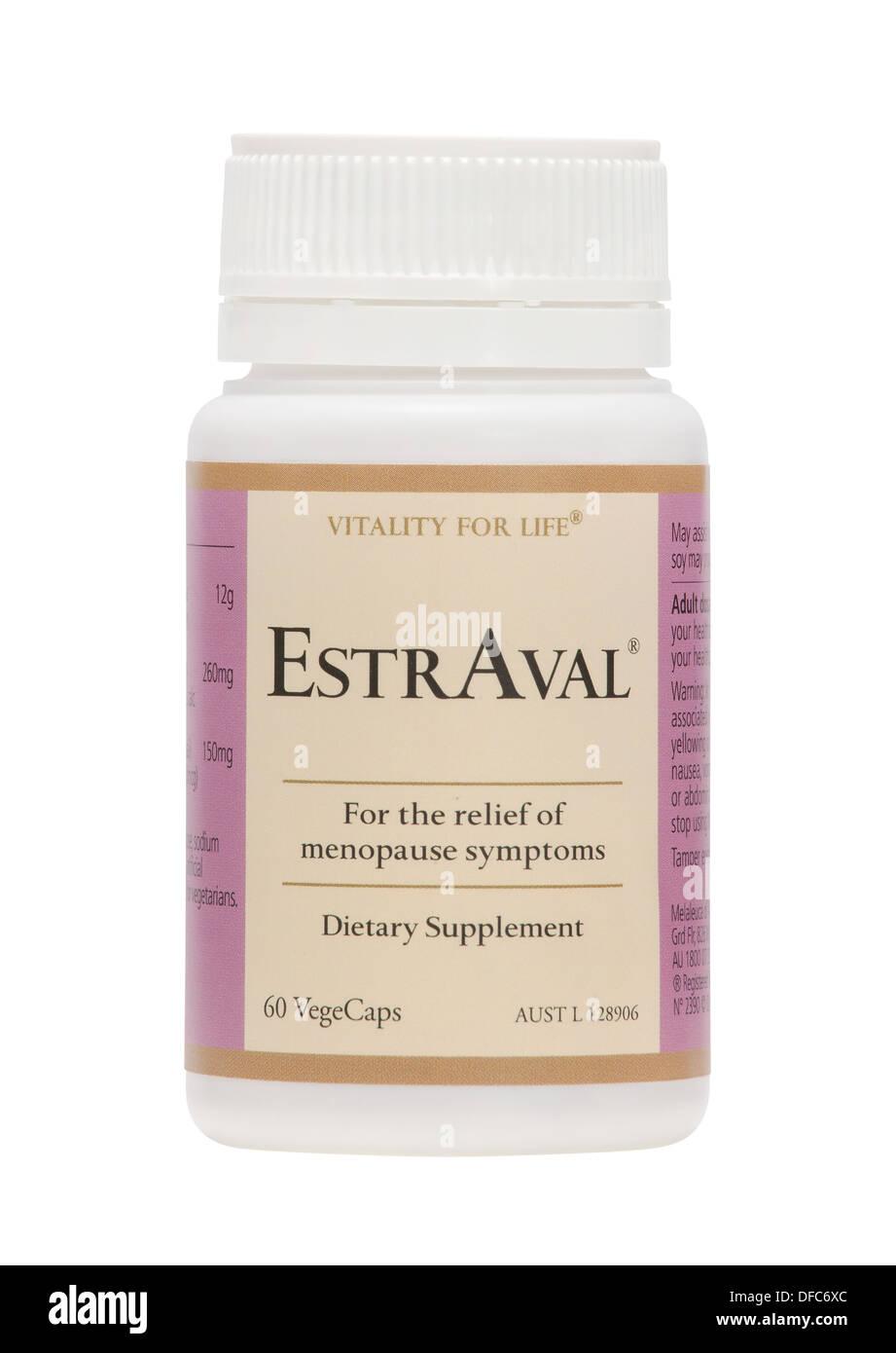Melaleuca Wellness Vitamin zu ergänzen, Flasche, Glas und Kunststoff medizinische Pillen Behälter vor weißem Hintergrund Stockbild