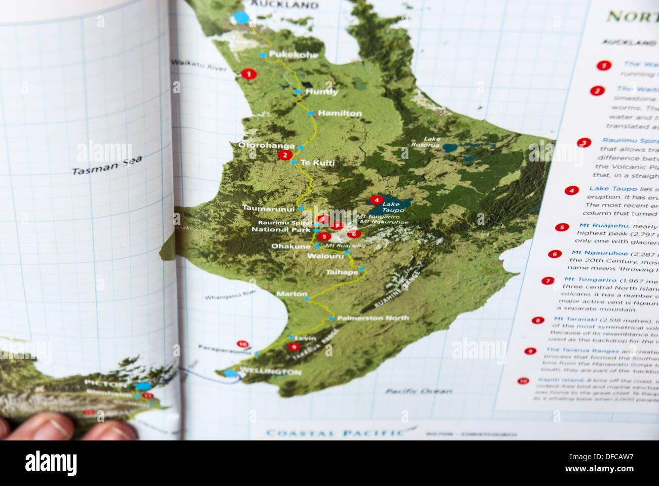 Neuseeland Nordinsel Karte.Eine Karte Der Nordinsel Neuseeland Stockfoto Bild 61122915 Alamy