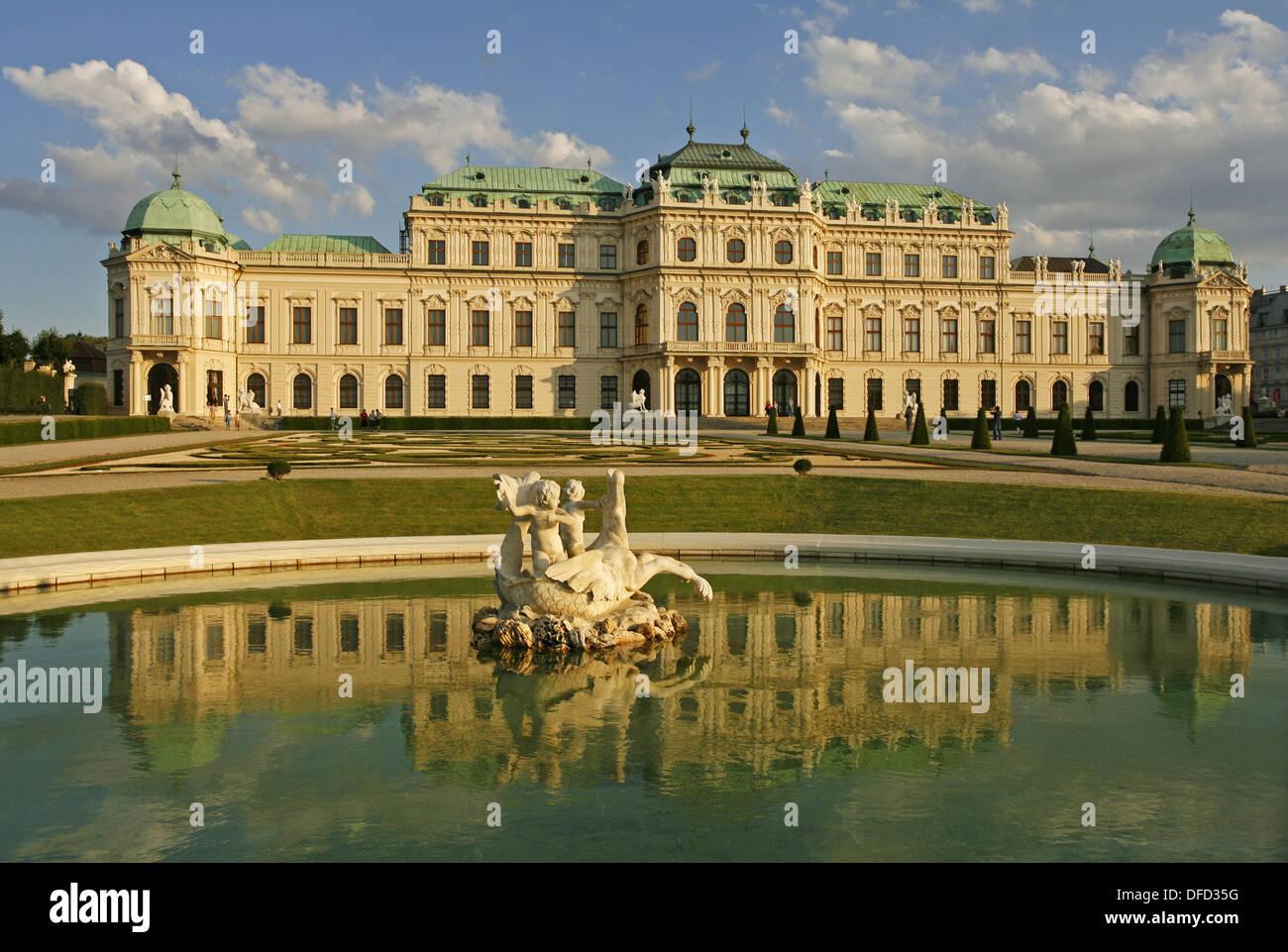 Oberes Belvedere, Wien, Österreich Stockfoto