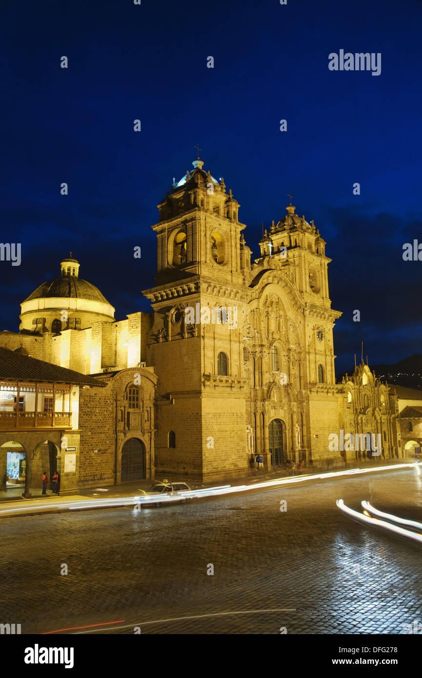Chuch der Gesellschaft Jesu in Plaza de Armas in Cusco, Peru Stockbild