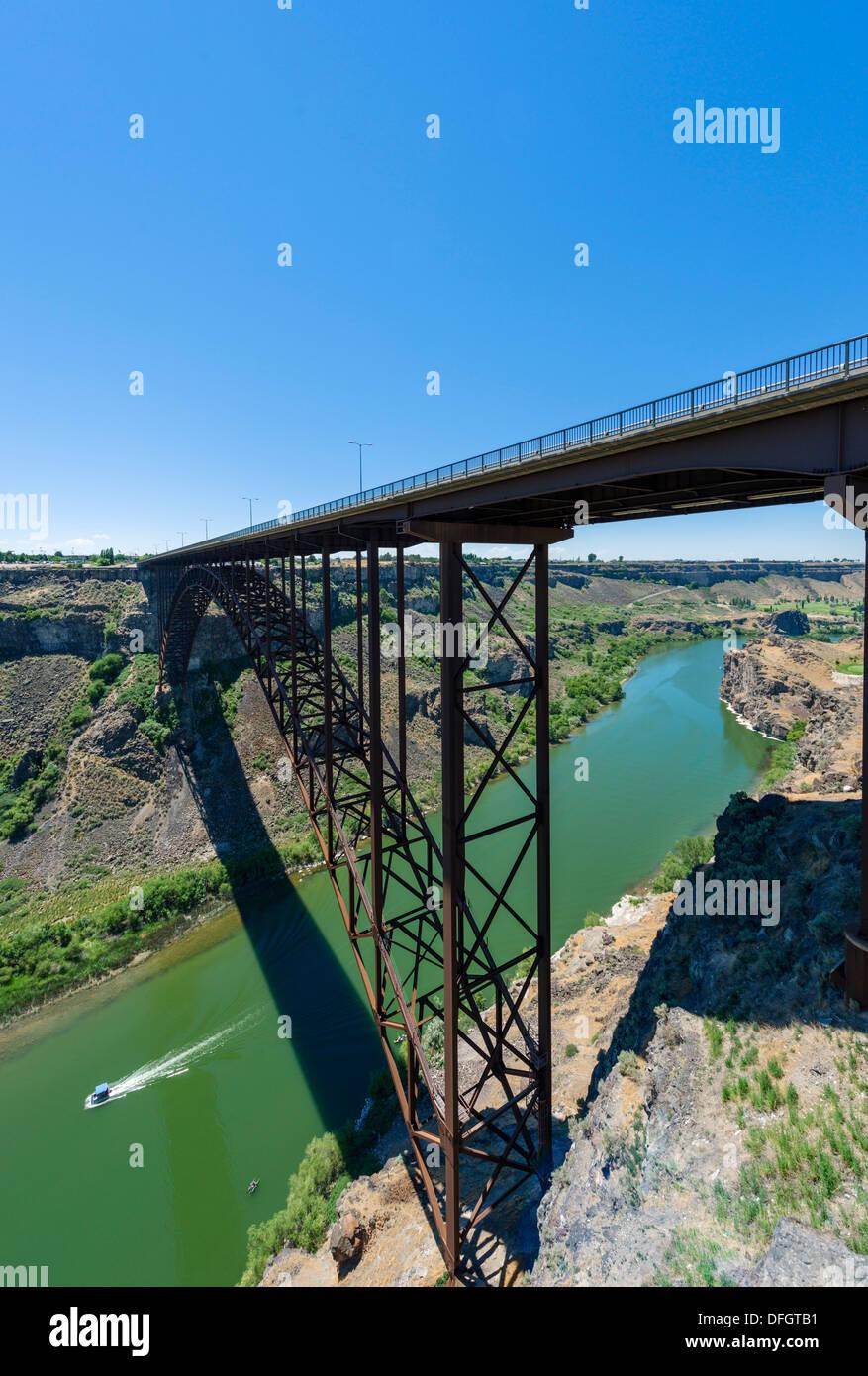 Perrine Bridge über Den Snake River Canyon Ein Bekannter Ort Für