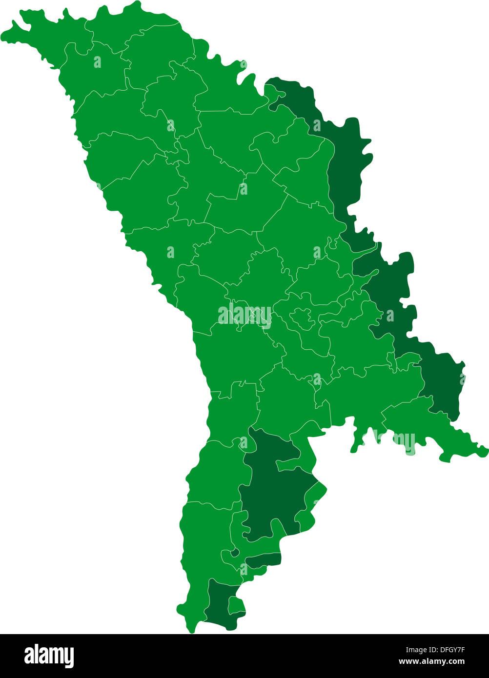 Grun Moldawien Karte Stockfoto Bild 61223555 Alamy