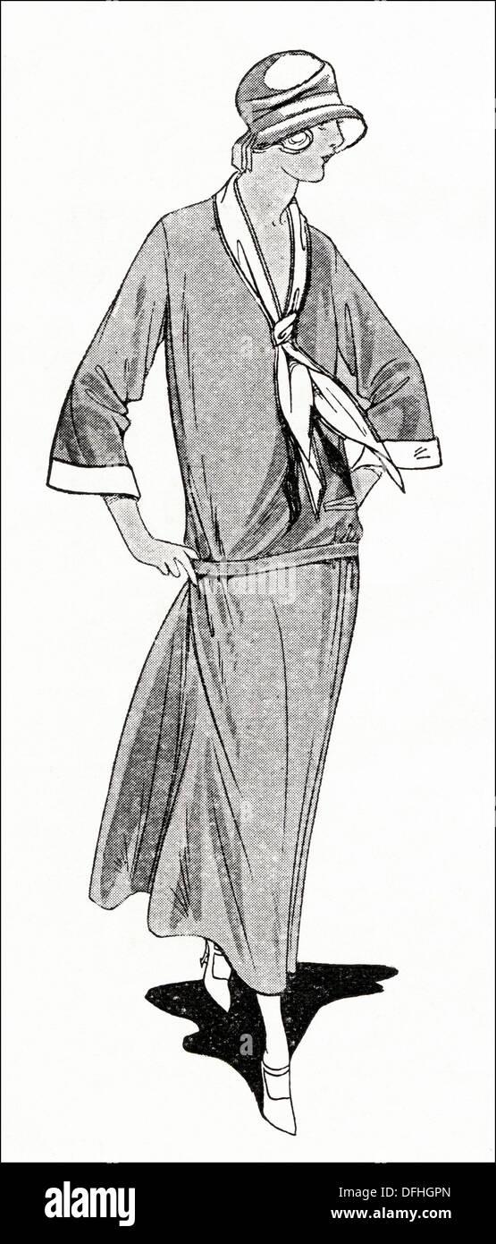 Flapper Mode Der 1920er Jahre Versandhandel Kleid In Seide Mit