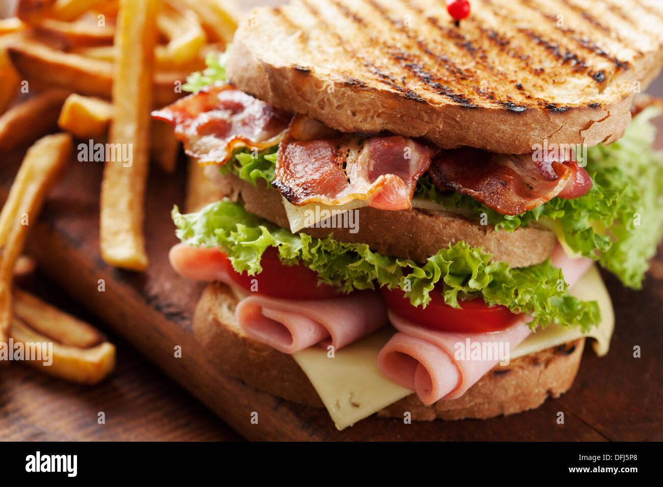 Club-sandwich Stockbild