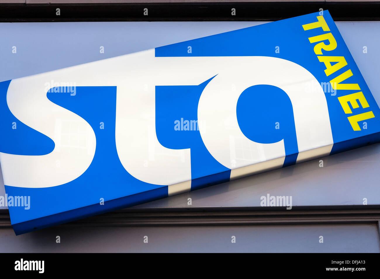 STA Travel Agents Zeichen Stockbild